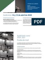 Escuela Reina Sofía. Audiciones 20-21. Clarinete (Pascal Moraguès)