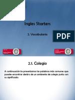 Ingles Starters, 2 Vocabulario