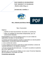 folleto del pronombre