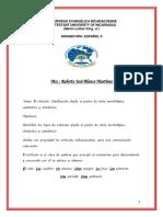 folleto de espáñol II ARTO.