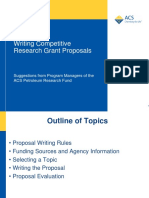 Writing Competitive Proposals