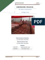 INFORME DEL TALLER 04 - VIGAS Y LOSAS - CONSTRUCCION