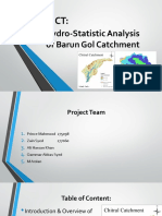 Basic Statistical Presentation of the Hydrological data