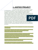 SOCIAL JUSTICE PROJECT
