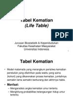 Kuliah ke 8 - Life Table.ppt