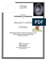 MELJUN CORTES IBM Training Certificate DATA WareHousing