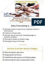 Sales Administration and Forecasting