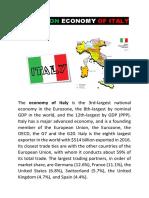 REPORT ON ECONOMY OF ITALY