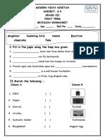 G.K. Revision Grade III WS I Term