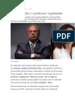 Paulo Guedes o prof. vagabundo
