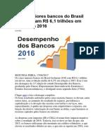 Cinco maiores bancos do Brasil 6 trilhões em ativos