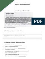 Activities - Prefixes and Suffixes