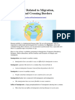 Vocabulary Related to Migration