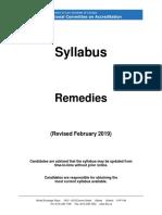 Remedies February 2019