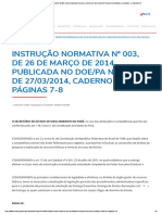 SEMAS - INSTRUÇÃO NORMATIVA Nº 003, DE 26 DE MARÇO DE 2014, PUBLICADA NO DOE_PA Nº 32.610, DE 27_03_2014, CADERNO 4, PÁGINAS 7-8