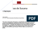 Tres poemas de Susana Thénon