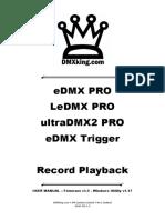 eDMX PRO Recorder Manual (EN)