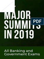 Major Summits & Conf. in 2019