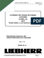 LICCON2 Limitador de Campo de Trabajo