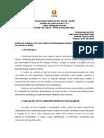 Resenha - Análise de redação com bom padrão de textualidade e dados quantitativos coletados por Costa Val (2006)