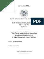 Diari, Denise - La Deportazione Dei Liguri Apuani (Analisi Genetica)