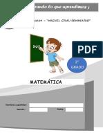 EVALUACIÓN DE SALIDA DE  MATEMÁTICA