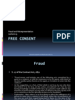 Lecture 13 Free Consent  Fraud and Misrepresentation