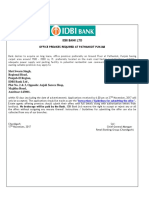 idbi bank office premises required