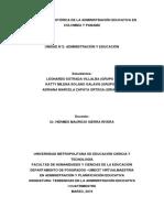 PERSPECTIVA HISTORICA DE LA ADMINISTRACIÓN EDUCATIVA EN COLOMBIA