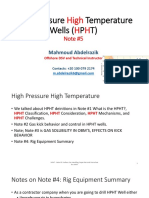 HPHT Note #5 Surface Gas Handling Capacities and Procedure for HPHT