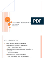 Microsoft PowerPoint - Clauses and Sentence Structure