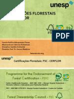 CERTIFICAÇÕES FLORESTAIS FSC E CERFLOR_AULA UNESP