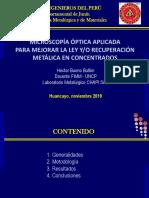 MICROSCOPÍA ÓPTICA_Exposición 2019