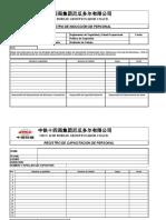Formato Registro de Inducciones