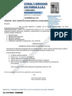 PRESUPUESTO DE MOLINO DE GRANOS 2019