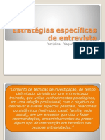 Estratégias específicas de entrevista