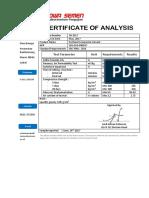 Quality Certificate PCC June 2017