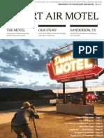 Desert Air Motel - Guest Book - 2020 Edition
