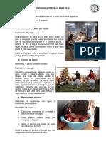 JUEGOS Y REGLAMENTO - OLIMPIADAS INTERCELULARES