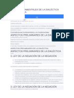 LEYES FUNDAMENTALES DE LA DIALÉCTICA MATERIALISTA