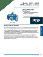 106 206 RF Reguladora de Caudal