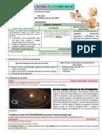 Sesión - El sistema planetario solar
