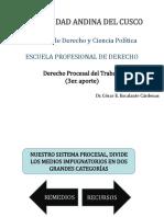 DERECHO PROCESAL DEL TRABAJO (3ER. APORTE)