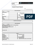 Sample Quote Request Form - Catalina Morales