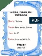 Byron Chamba 5to E Sensaciones y Percepciones Psicopatologica