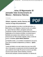 Ignacio Ramírez, El Nigromante El pensador más revolucionario de México – Noticieros Televisa