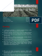 Public-Private-Partnership in agriculture in India