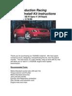 VQ Install Instructions