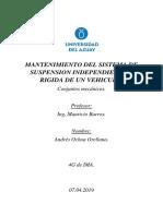 SISTEMA DE SUSPENSION INDEPENDIENTE Y RIGIDA DE UN VEHICULO