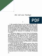 vieja nueva ontologia